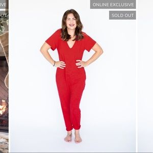 Smash and Tess Jillian Harris Romper Jilly Red